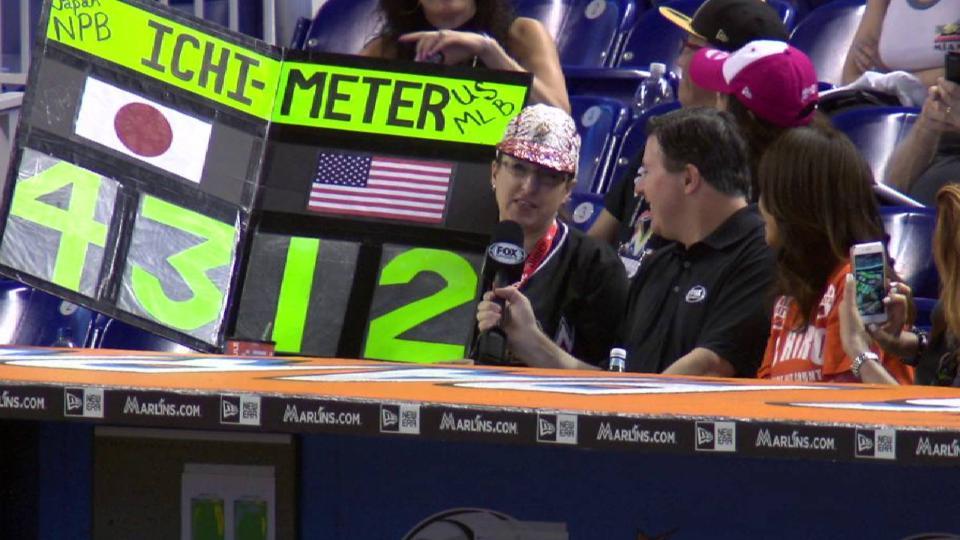 Fan brings Ichi-meter sign