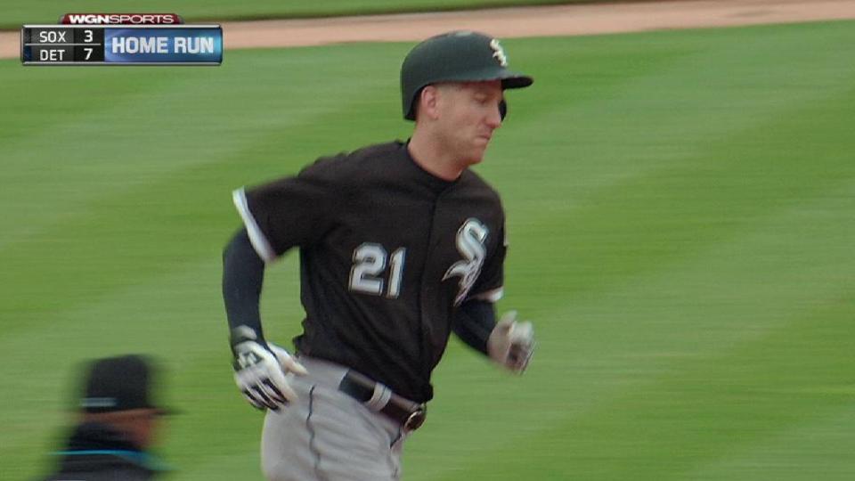 Frazier hits a solo home run