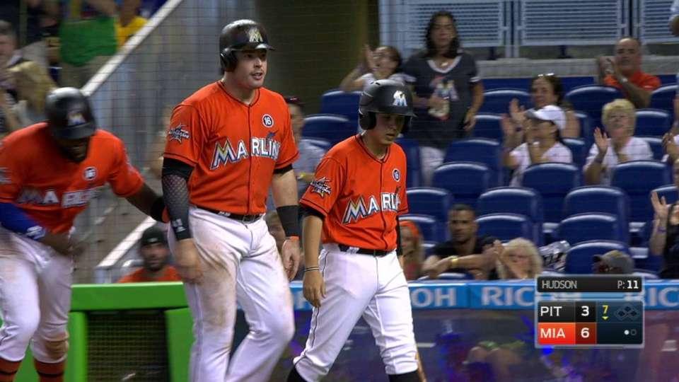 Bour's monster two-run homer