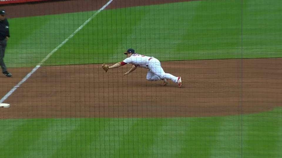 Gyorko robs Peraza of a base hit