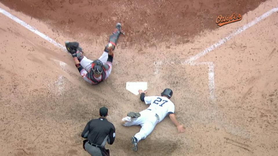 Hardy gets the out at home