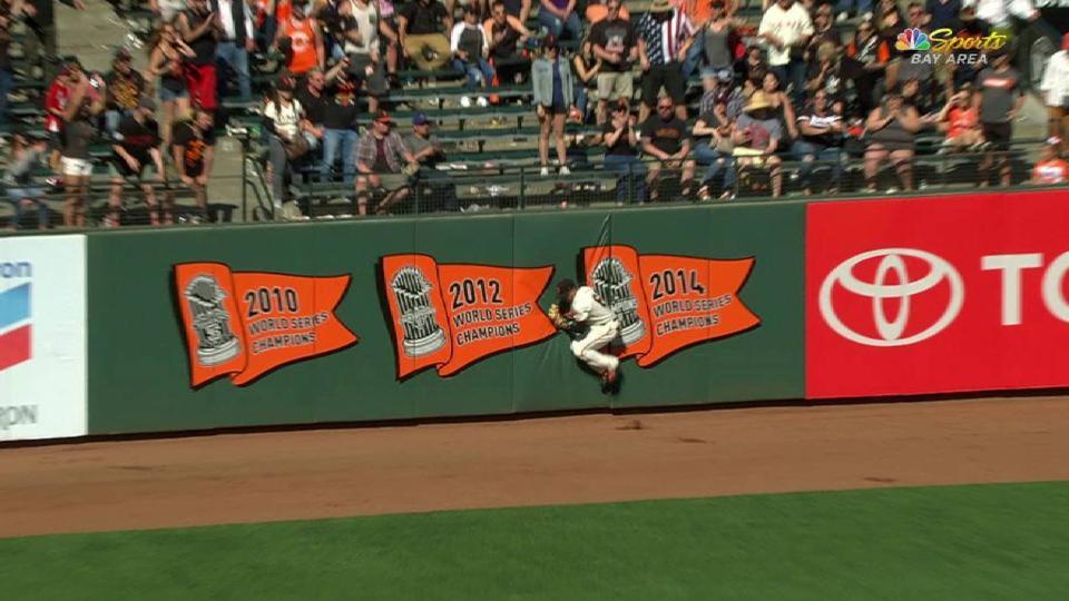 Hernandez's leaping grab