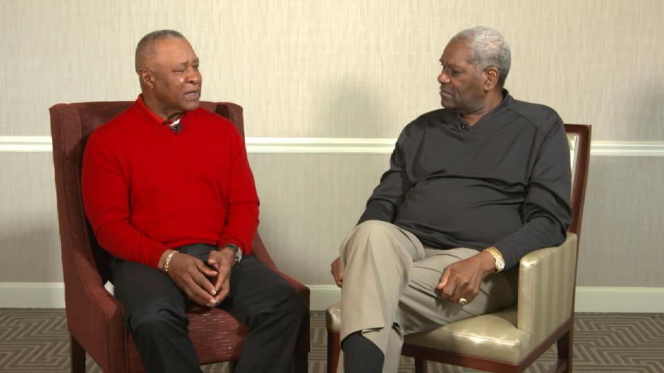 Ozzie Smith and Bob Gibson