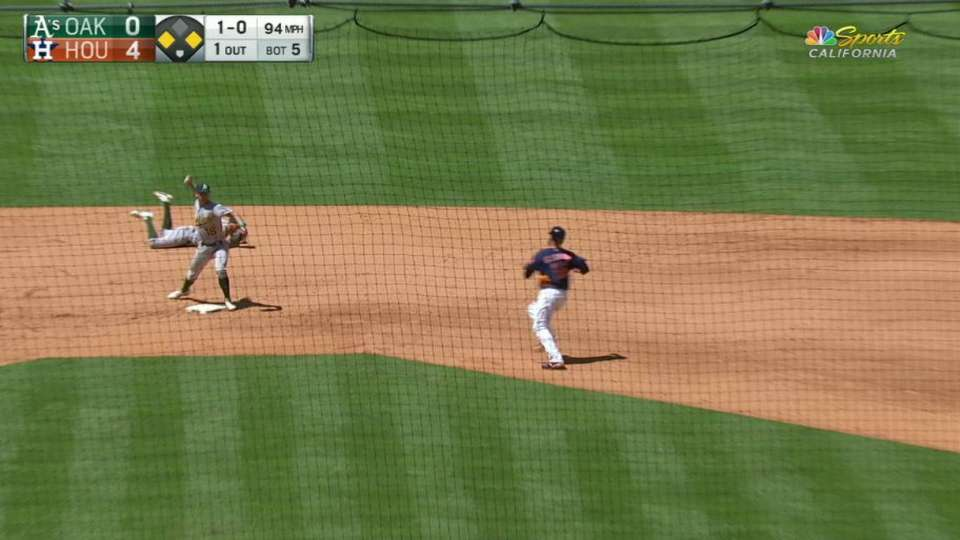 A's turn clutch double play