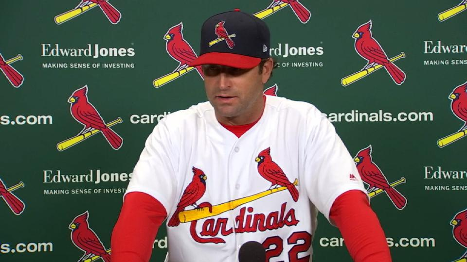 Matheny on tight loss to Reds