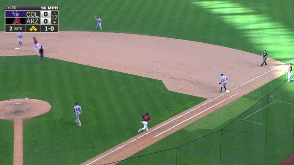 Lyles ends bases-loaded threat