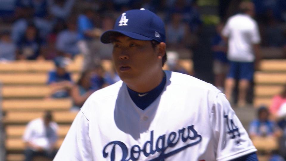 Ryu K's nine in 5 1/3 innings