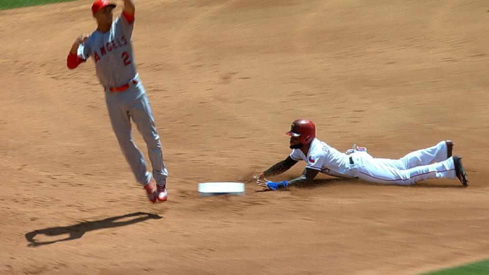 Rangers swipe four bases