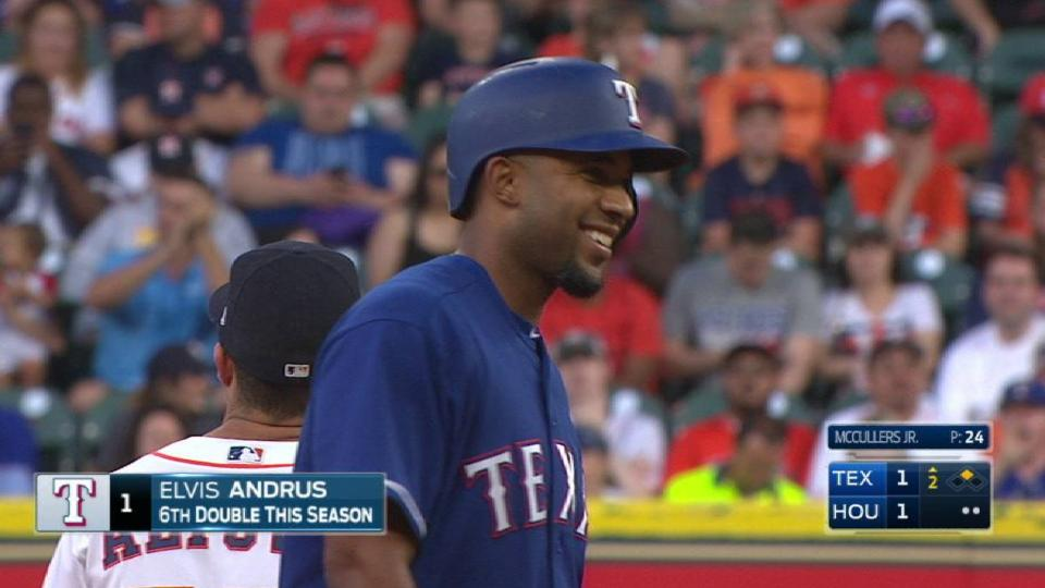Andrus' RBI ground-rule double