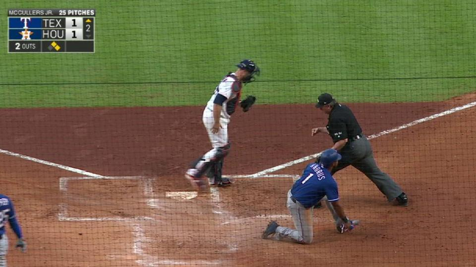 Aoki nabs Andrus at home plate