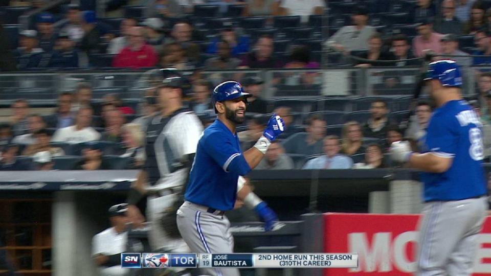 Bautista's two-run homer