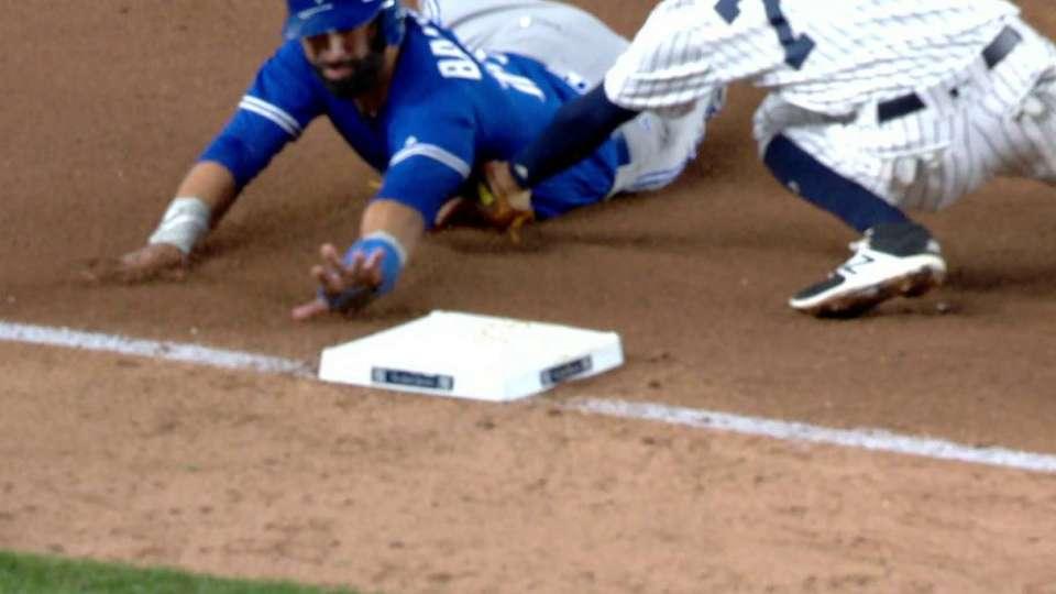 Judge's throw nails Bautista