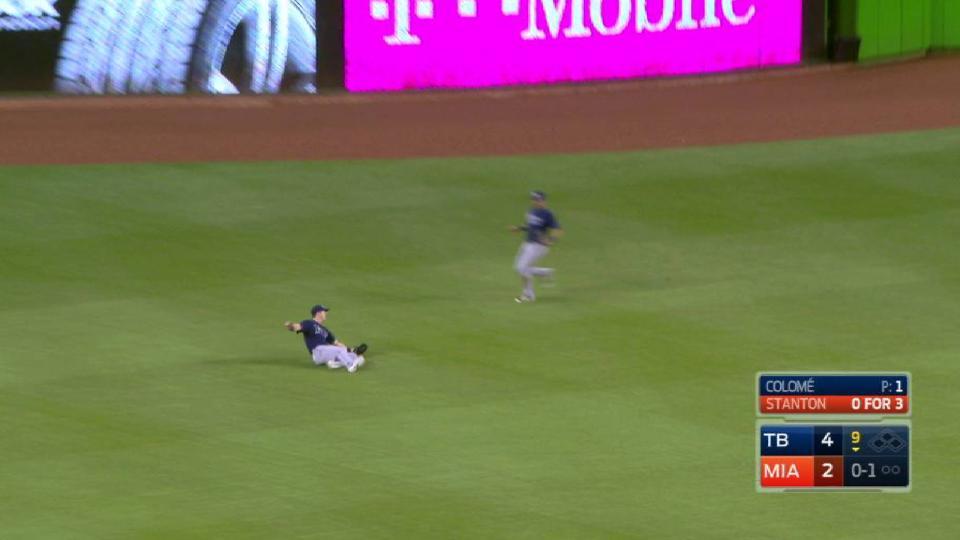 Dickerson's super sliding catch