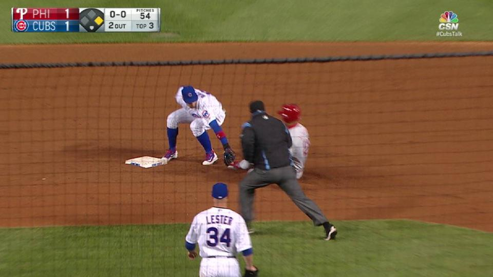 Lester throws out Altherr