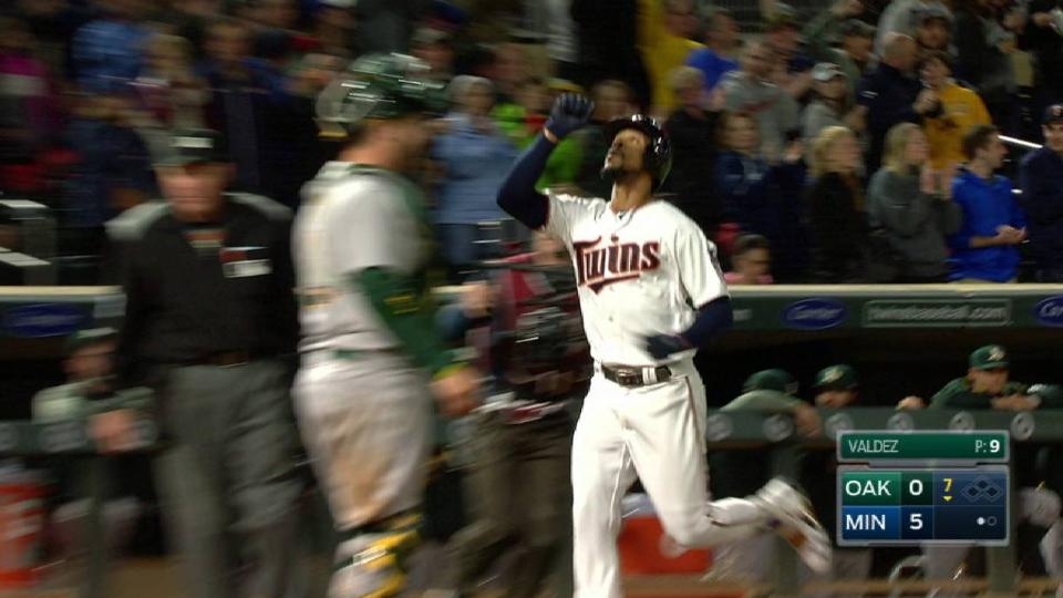 Buxton's first homer of the year