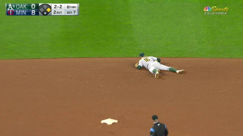 Rosales' great diving catch
