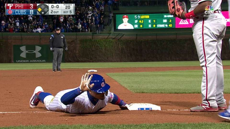 Baez's two-run triple