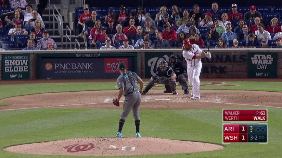 Walker strikes out Werth