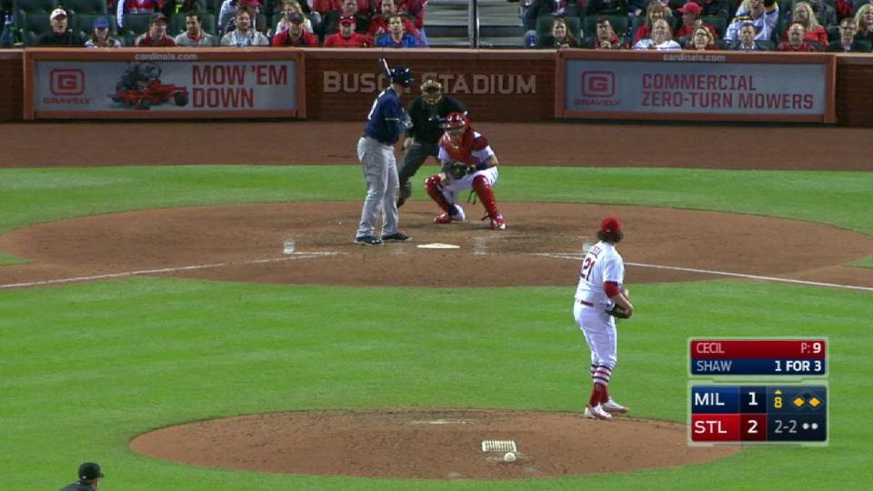 Cecil strikes out Shaw looking