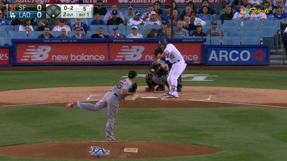 Moore strikes out Turner