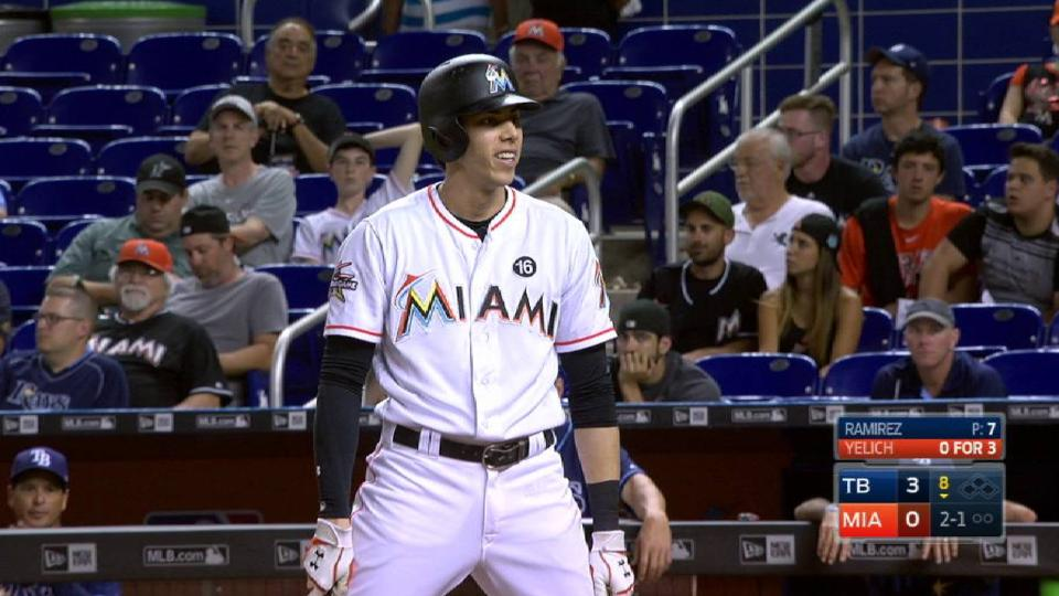 Yelich out after ump's call