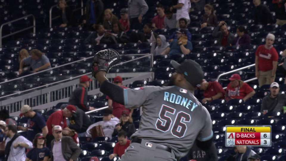 Rodney secures the save