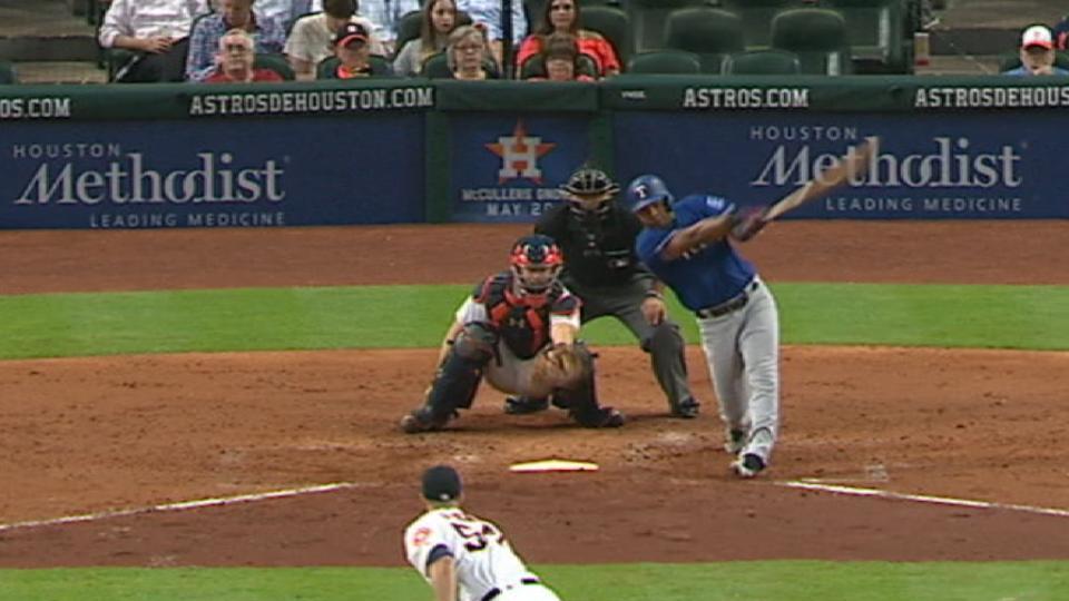 Rangers belt five homers