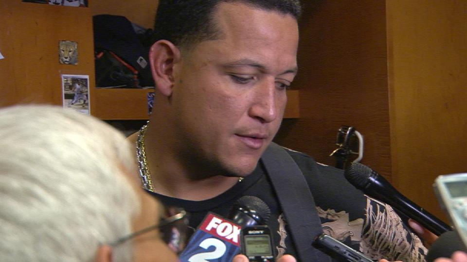 Cabrera on homer in return