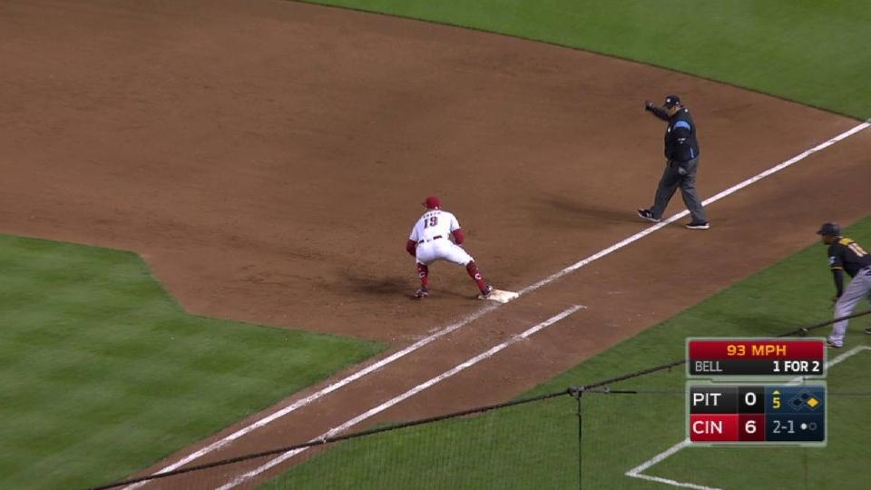 Votto starts a nifty double play