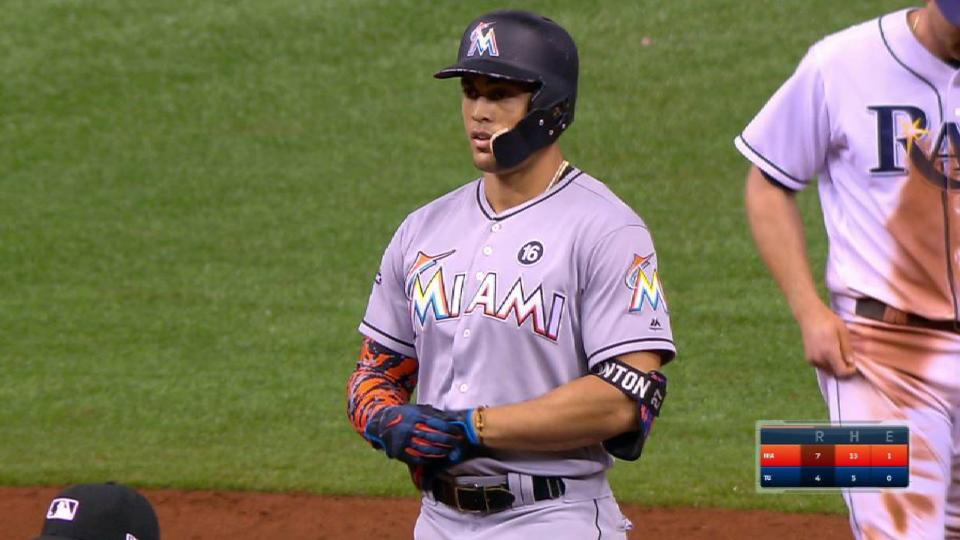 Stanton's two-run double