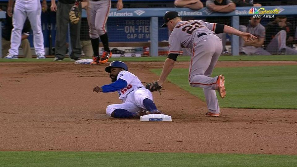 Posey nabs Toles at second