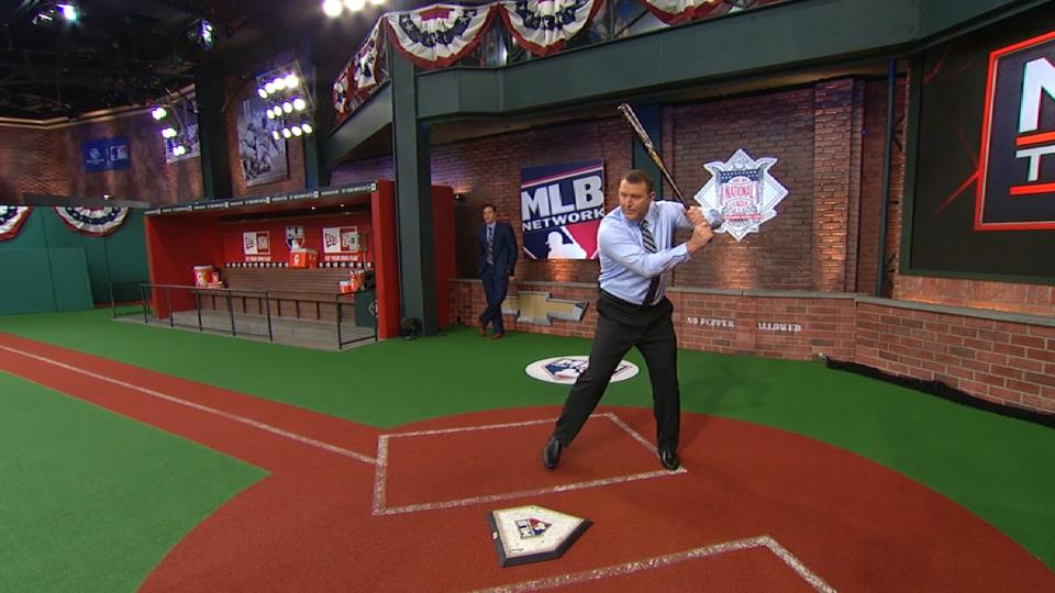 Jim Thome on his bat point