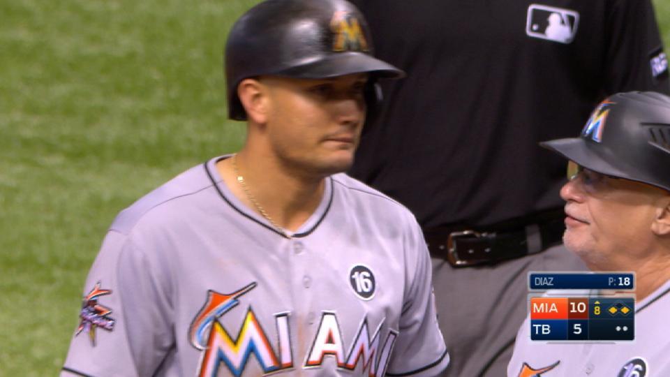 Rojas' four-hit game