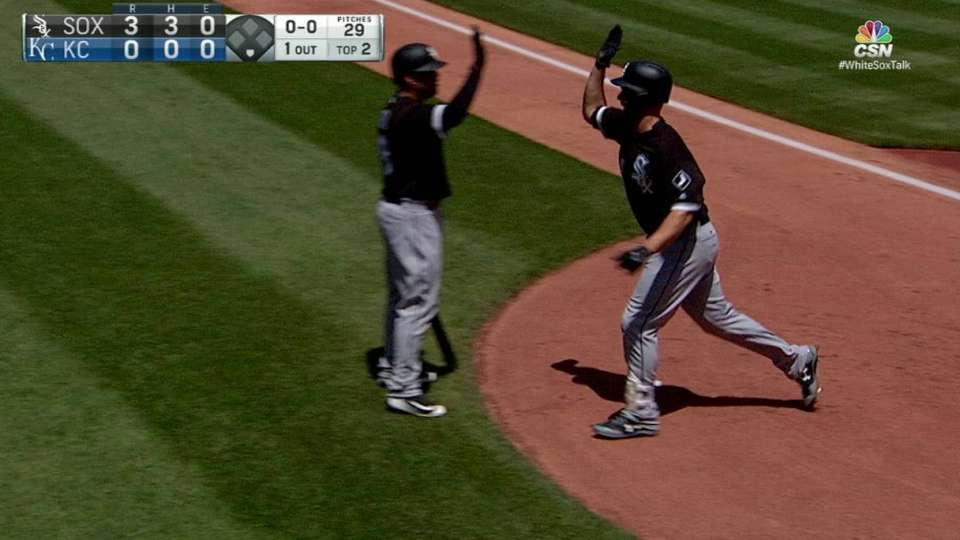 Davidson's solo homer in 2nd