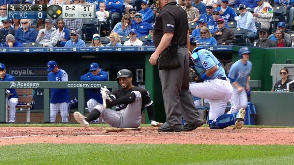 Garcia's hit-by-pitch in 4th