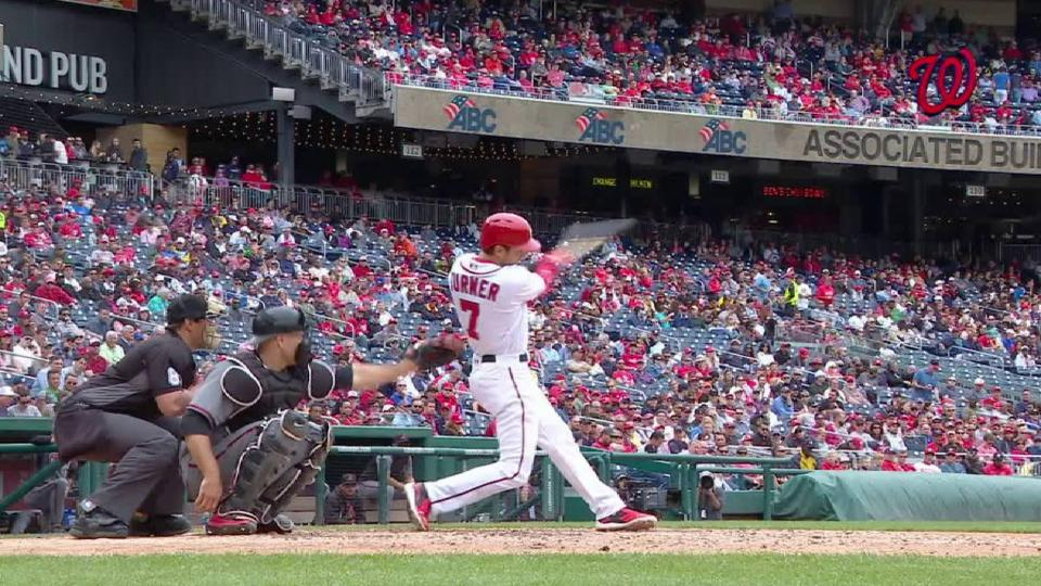 Turner singles in the 6th