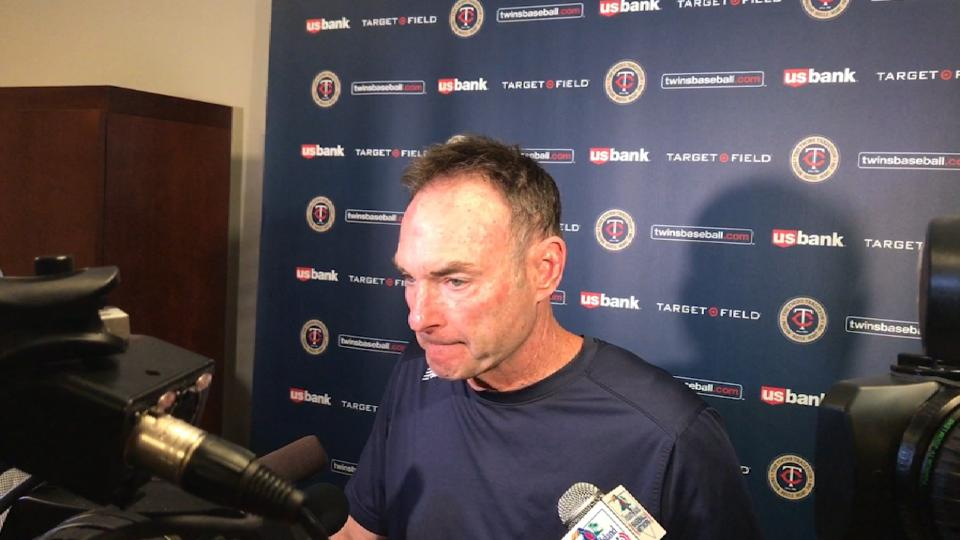 Molitor on 8-5 loss to A's