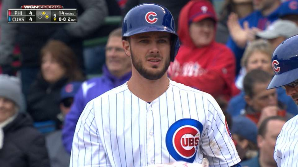 Bryant's four hits vs. Phillies