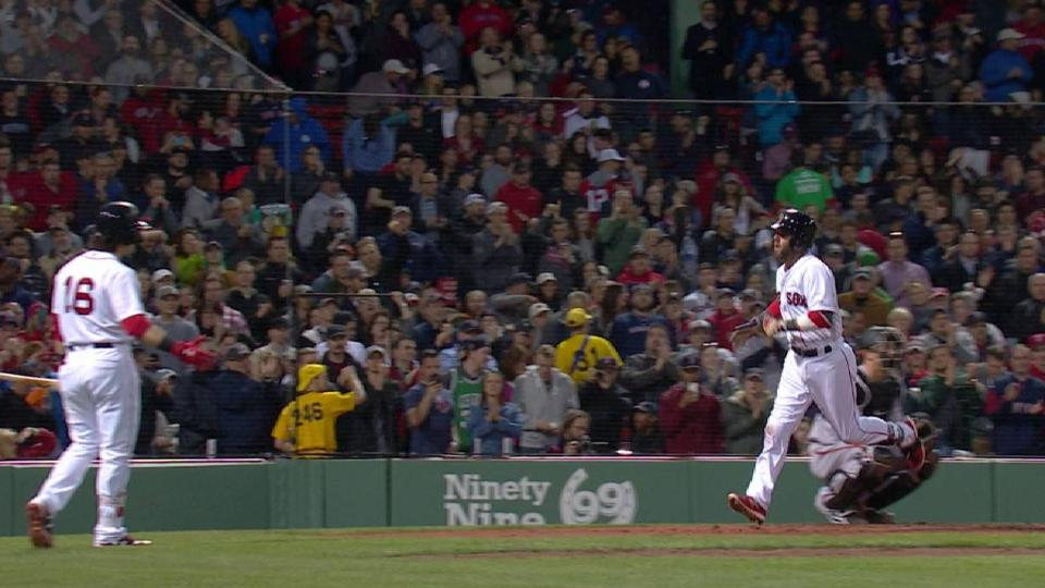 Pedroia's first home run of 2017