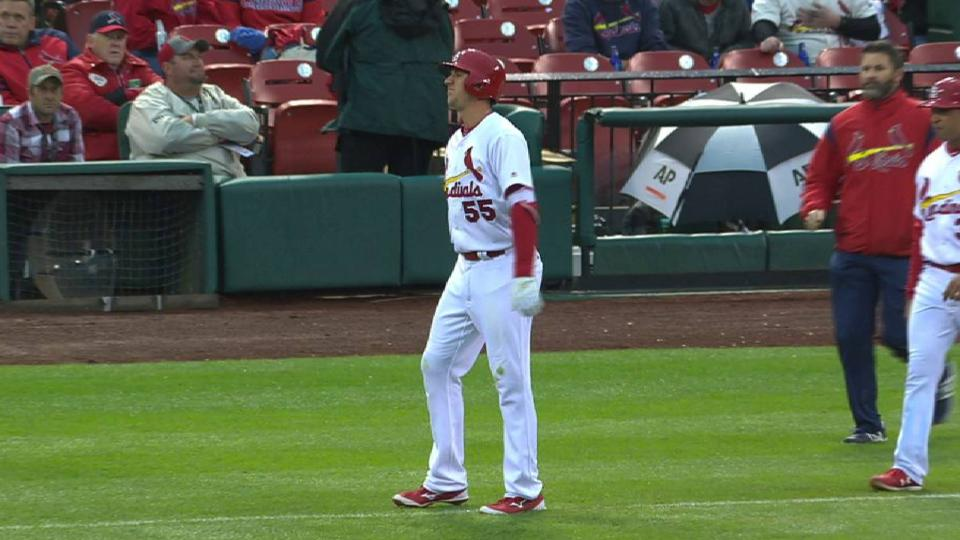 Piscotty exits game with injury