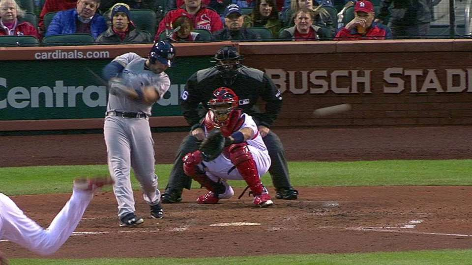 Shaw's two-run double to left