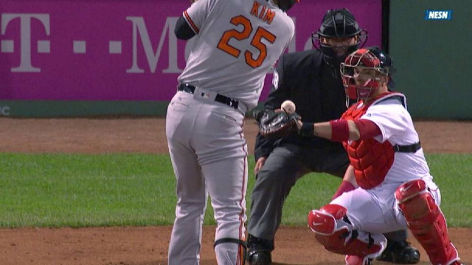Red Sox challenge Kim's HBP