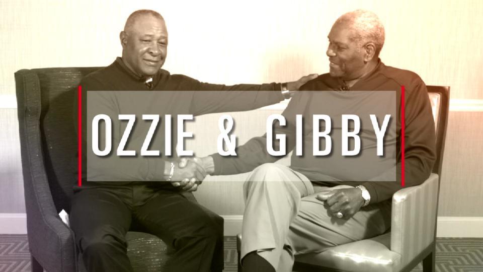 Ozzie Smith and Bob Gibson