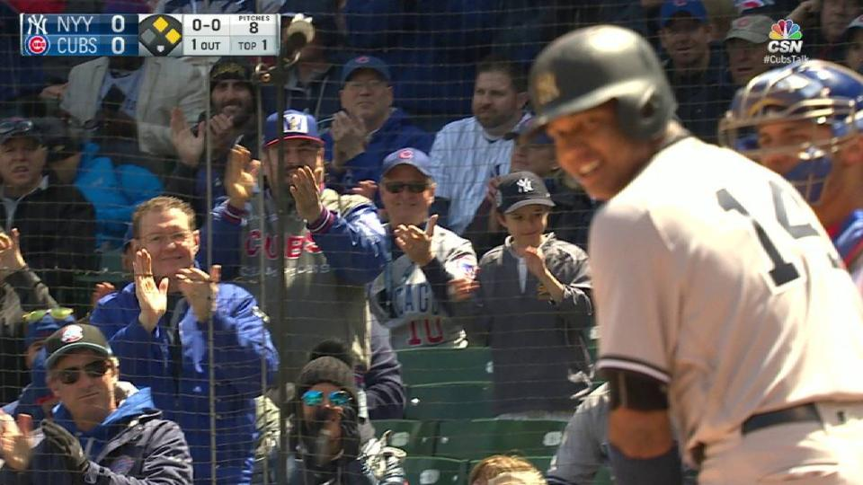 Castro's ovation in first at-bat