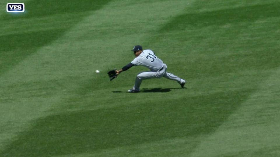 Hicks' sliding catch in the 2nd