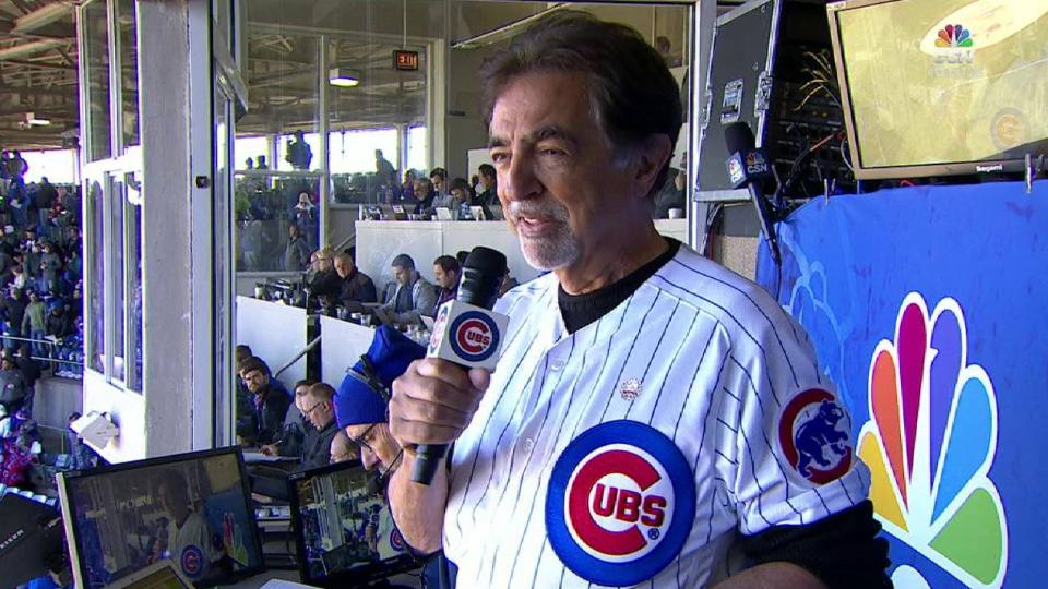 Mantegna leads Wrigley in song