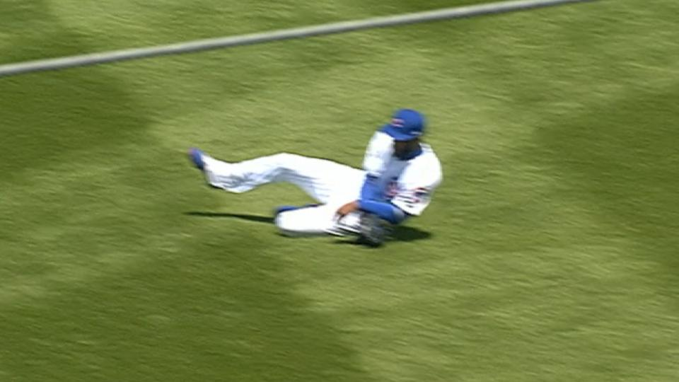 Heyward's outstanding catch