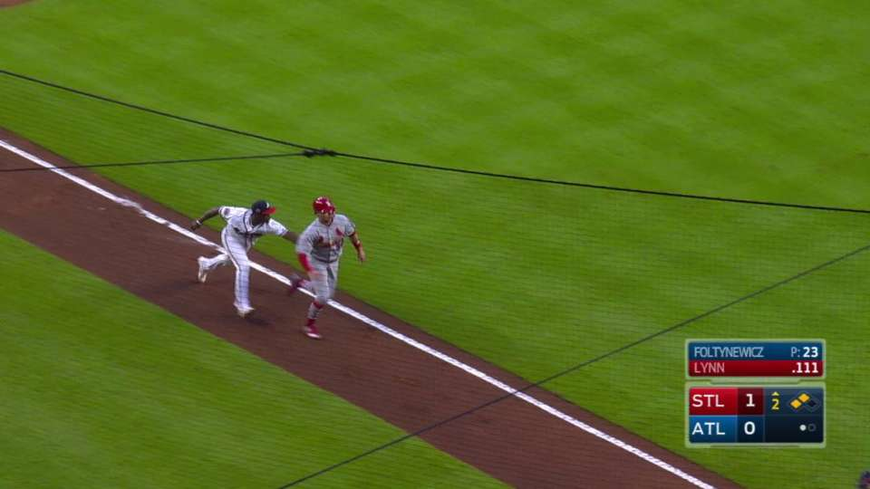 Braves stop a run from scoring