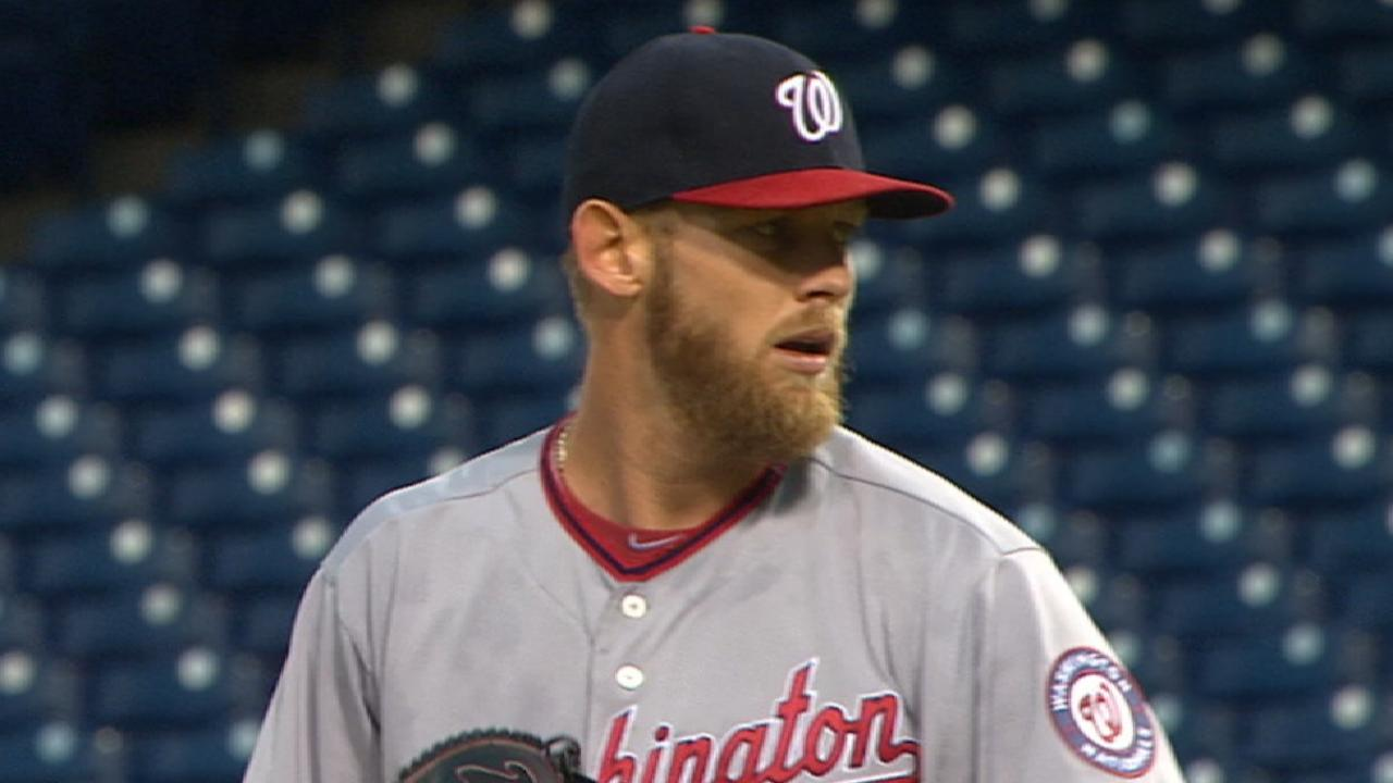 031ff9d00e8 Stephen Strasburg throws 119 pitches in win