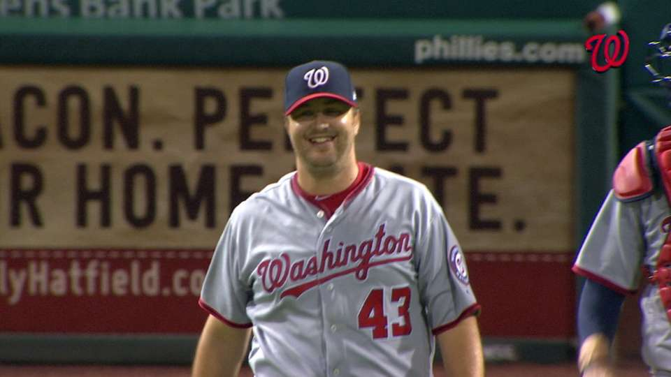 Albers' first career save
